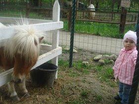 Лизонька в зоопарке