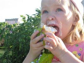 Любительница мороженого