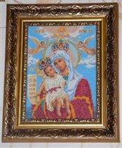 Икона  'Достойно есть или Богородица Милующая'
