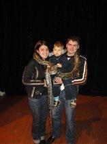 наша семья и питон Гриша