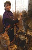Я и мои любимые котики  - Рыжик и Барсик
