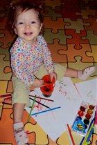Юная художница!