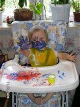 Первые уроки рисования...