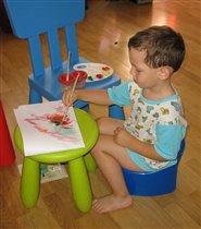Я на горшке сижу и картину пишу