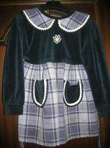 платье велюр 98-104
