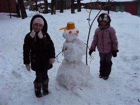У снеговика!