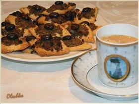 Кофейно-ореховые ромбики