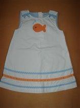 Белое платье с рыбками Джимбори