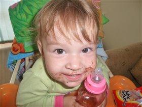 Мам, а шоколад то вкусный