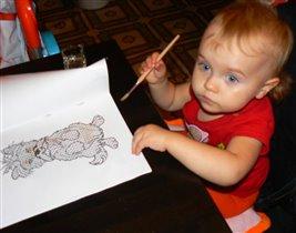Что же еще нарисовать Дедушке Морозу)))