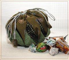 Конфетный твист-мешочек