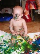 Юный художник!!!