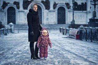 прогулка в морозный денек