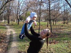 Мы с сынулькой в парке