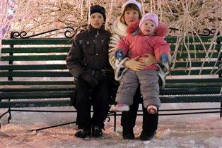 под ледяным деревом)