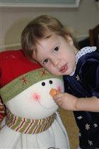 Милая снежиночка....первый праздник...