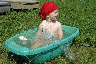 А ванна на свежем воздухе? Это здорово!!!