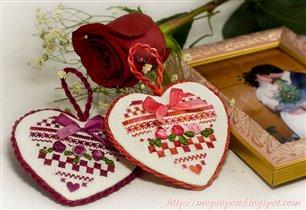 Валентинки от Аталие для меня и мужа :)