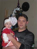 Маша с папой Новый год