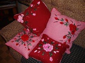 розы всегда прекрасны- даже на подушках!!!
