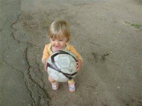 Юная футболистка