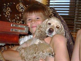 Максюша и наша собачка Топа