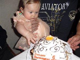 именинный торт, по случаю полугода:-)