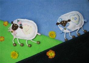 овечки пасутся :)