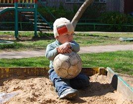 Футболист на привале