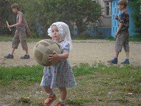 юнная футболистка