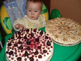 какие тортики испекла мне мама на день рождения!!!