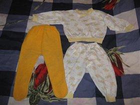 Ползунки махровые и пижамка