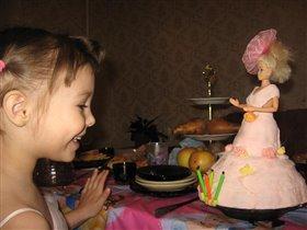5 лет красотке нашей - гламурный торт для Даши!