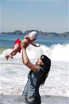 Я с мамой на Тихом океане