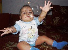 Ловлю мыльные пузыри...
