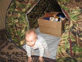 моя первая палатка