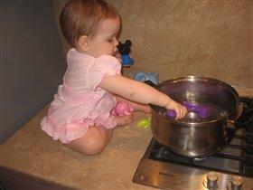 Ужин для родителей - каша из молотка.