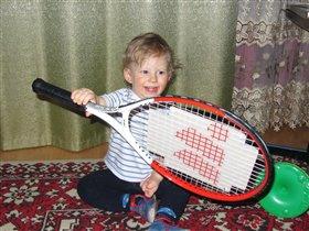 Наверное я буду играть в большой теннис!