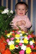 'Мои первые букеты на первый день рождения!'