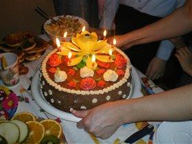 мой первый торт на день рождение