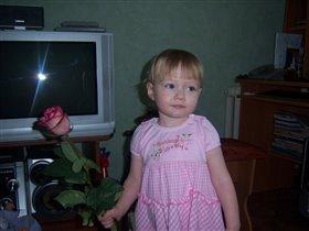 Первые цветы. День рождения 2 года.