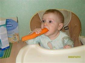 Вмиг сгрызу я ловко,вкусную морковку!