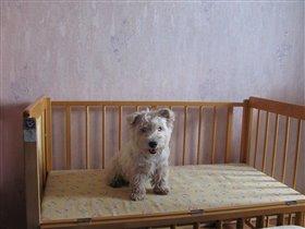Кроватка детская - бортик откинут