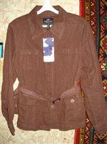 р.46 лен пиджак новый