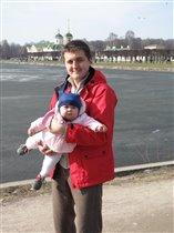 С папой на прогулке в Кусково
