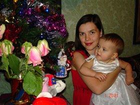 Я и Машенька.Новый 2008 г.