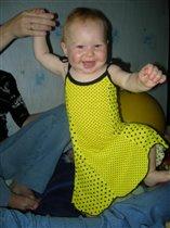 Платье в горошек мне очень идет!!!