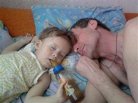 Деда усыплял,усыплял да и сам уснул.......