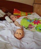 куклу разобрала и устала