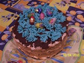 торт 'Пасхальная поляна'